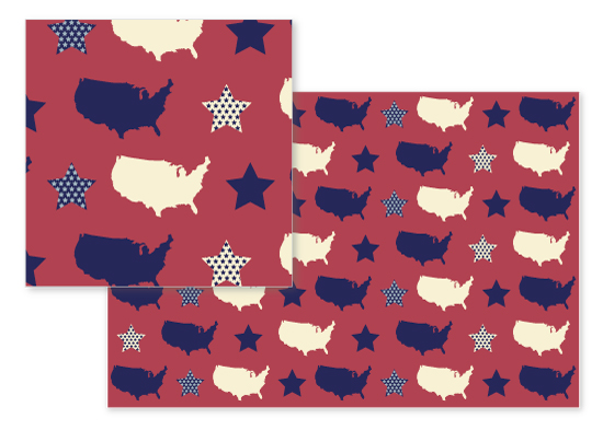 fabric - Vintage Americana Map by Kate Ross