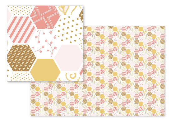 fabric - Hexagon Pieces by Erin Niehenke