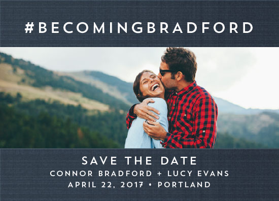 save the date cards - Hashtag by Ella Weaver