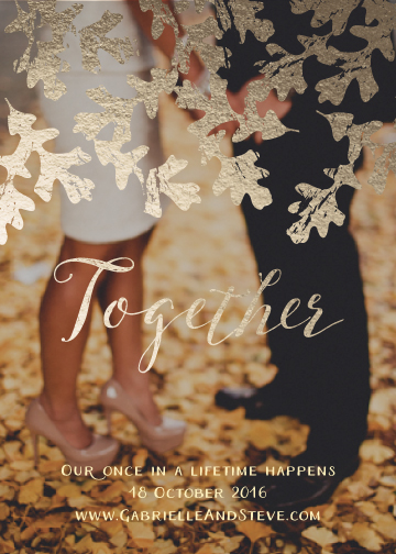 save the date cards - Together by Melissa Casey