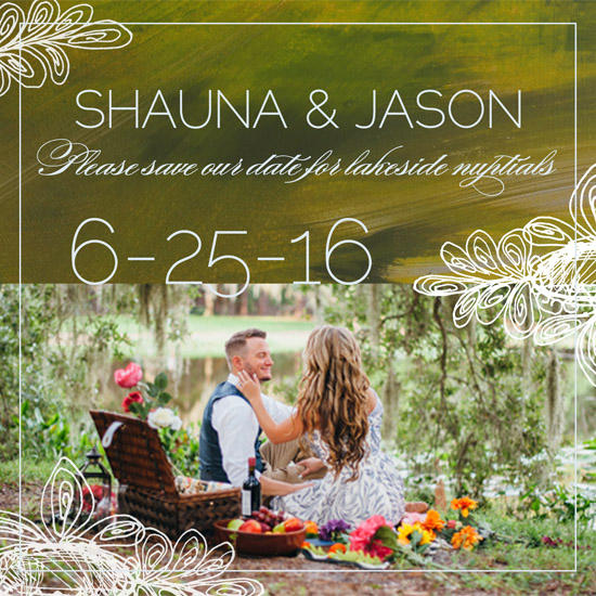 save the date cards - Lakeside Nuptials by Tammy Senrick