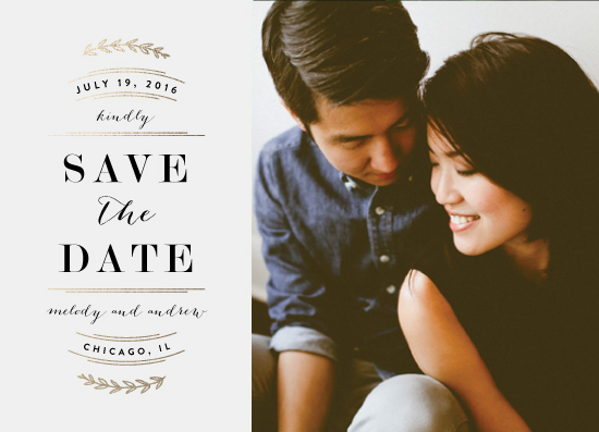 save the date cards - Elegant Announcement by Kelly Schmidt