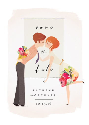 save the date cards - Sweetheart Kiss by Lori Wemple