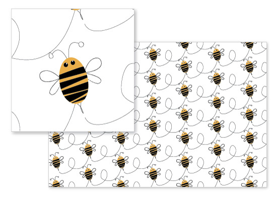 fabric - Busy Bees by Heide Balaban