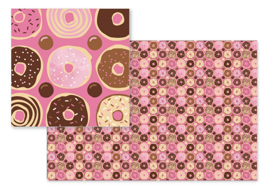 fabric - Delicious Donuts by Sandy Miranda