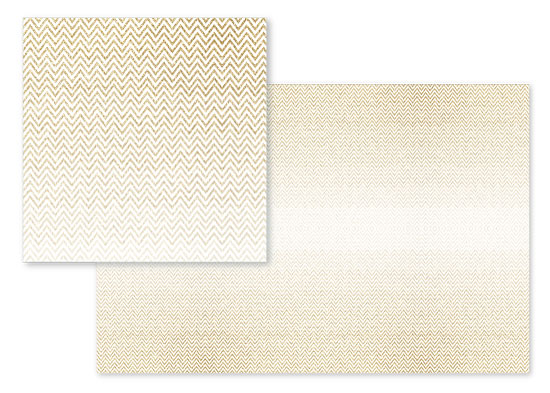 fabric - Gold Glitter Ombre Chevrons by Heather Doucette
