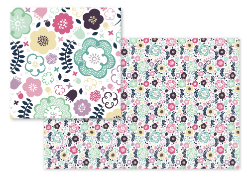 fabric - Fickle Florals by Lynn and Lou Paper Co