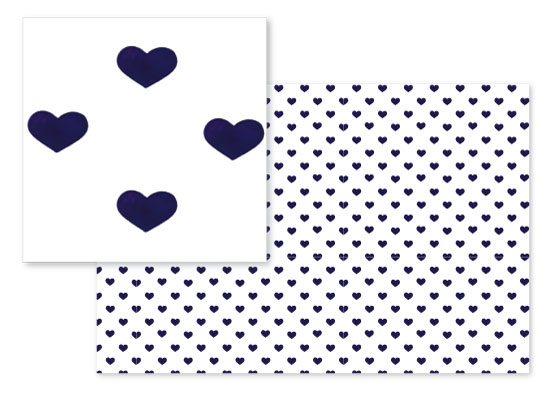 fabric - Navy Heart by Stephanie Fehrenbach