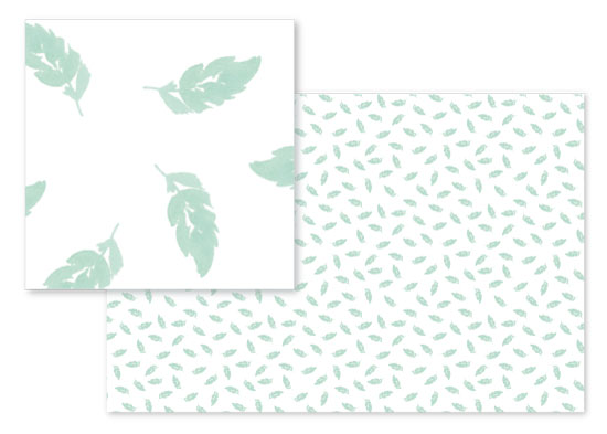 fabric - Sweet Mint Leaf by Stephanie Fehrenbach