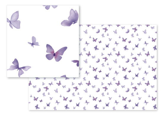 fabric - Butterflies in Flight by Stephanie Fehrenbach