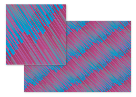 fabric - teen pink and blue stripes by Tammi
