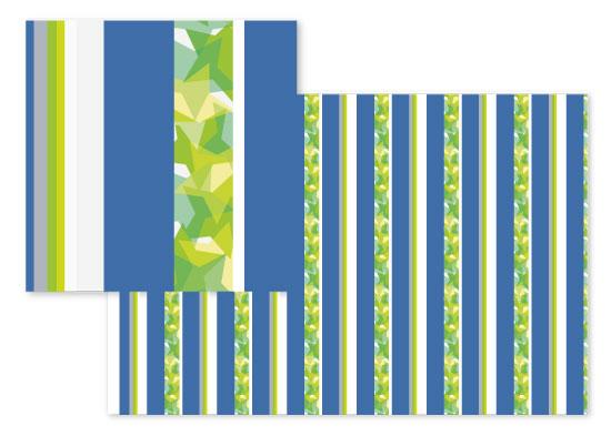 fabric - Stripes&Colliding Stars by Renee Rosenfeld