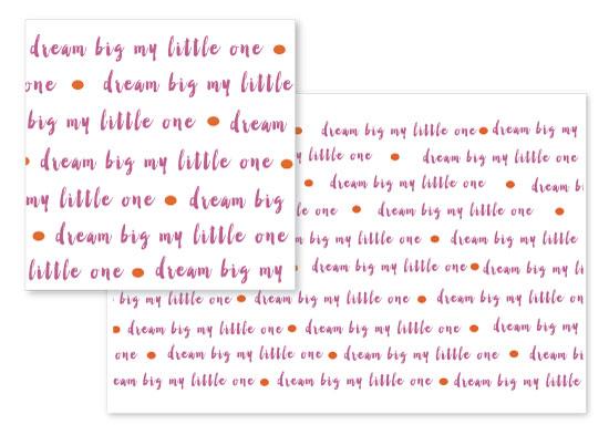 fabric - Dream Big Little One by Michelle Bush
