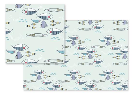 fabric - swimming fish by Kbgamboa