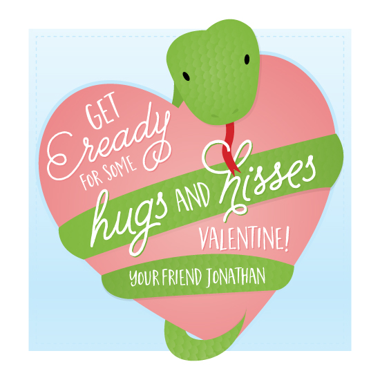 valentine's day - Hugs and Hisses by Little Bees Graphics