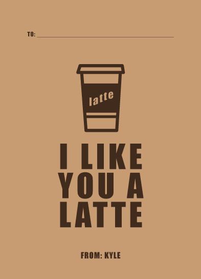 valentine's day - I like you a Latte by Poi Velasco