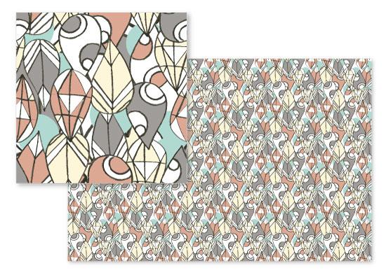 fabric - Geo Drops by Zara Martina Mansen
