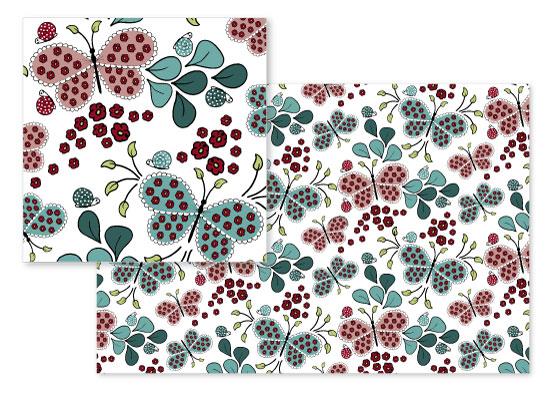 fabric - Butterfly Bloom by Zara Martina Mansen