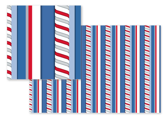 fabric - Stripe Pole by Renee Rosenfeld