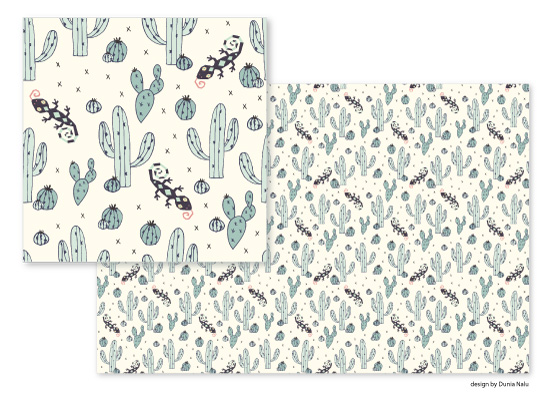 fabric - Pimply Lizard by Dunia Nalu
