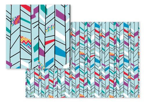 fabric - Aztec Chevron Toss by Betsy Berry