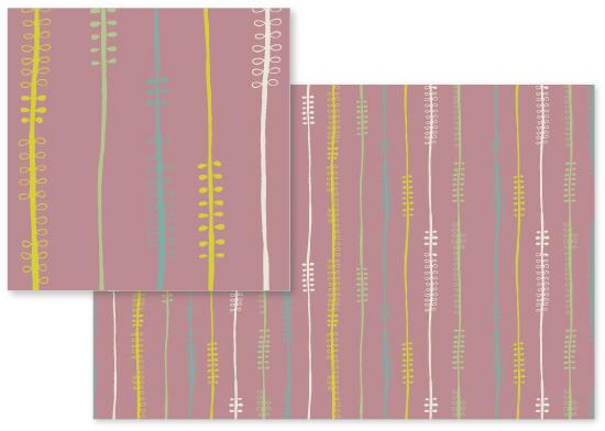 fabric - Stems by Angela Traunig