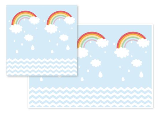 fabric - Rainy Sky & Rainbow by Candy Girl