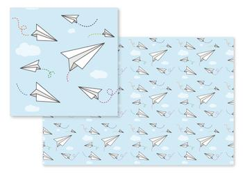 Paper Airplanes Among Clouds