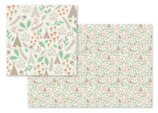 fabric - Happy Forest ll by Jana Volfova