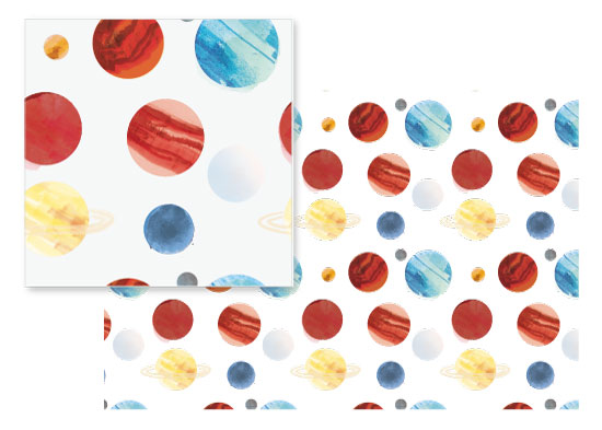 fabric - Planet Dots by Baumbirdy