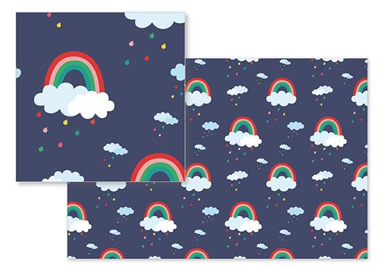fabric - Rainbow Bright by Shirley Lin Schneider