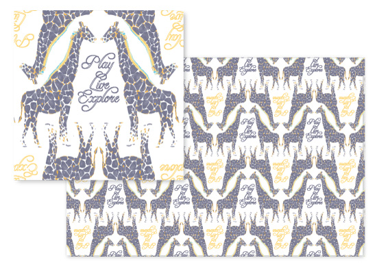 fabric - Giraffe Rhapsody by Carrie Pray