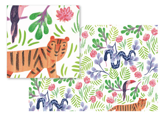 fabric - Jungle Fun by Rebecca Daublin