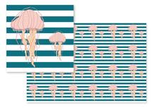 Blue Bold Stripes Jelly... by Heather Doucette
