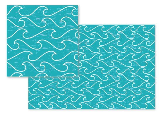 fabric - Pacific Waves by Emily Andrassy