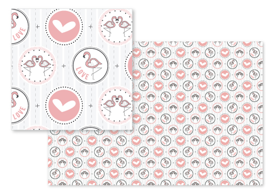 fabric - Flaming{o} Love by Whisper Paper Co.