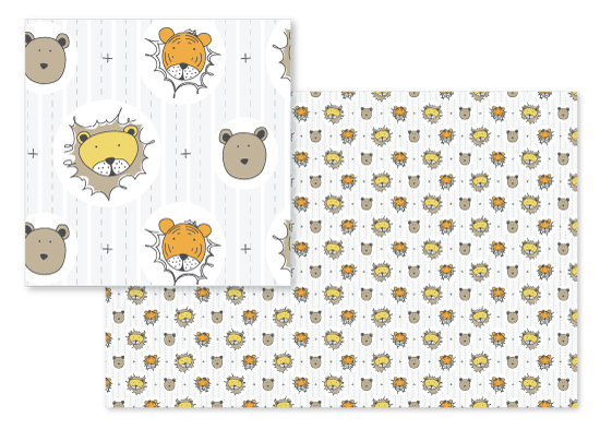 fabric - Lions & Tigers & Bears...Oh My! by Whisper Paper Co.