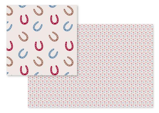fabric - Western Horseshoe by Melissa Casey