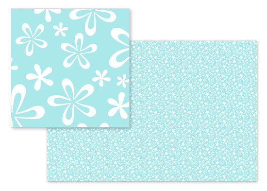 fabric - Tropical Surf Flowers by Melissa Casey