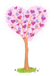 valentine's day - Heart Tree by Russ Cannizzaro