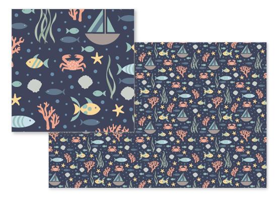 fabric - Ocean Wonders by Brandy Folse