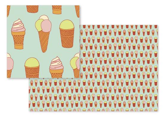 fabric - With love to ice-cream by Leysan Shayakbirova