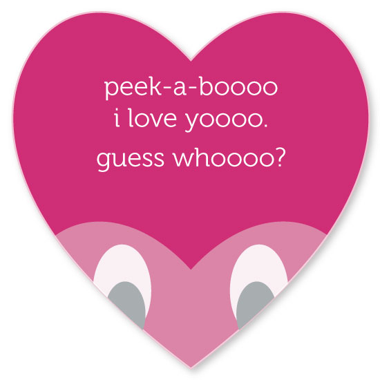 valentine's day - peek-a-boo heart by Renee Rosenfeld