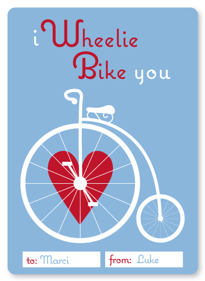 valentine's day - I Wheelie Bike You by Anabelle Roeser