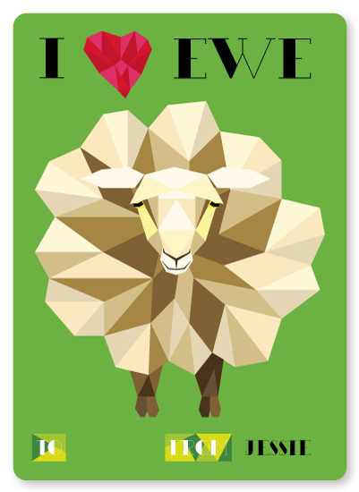 valentine's day - I Heart Ewe by Anabelle Roeser