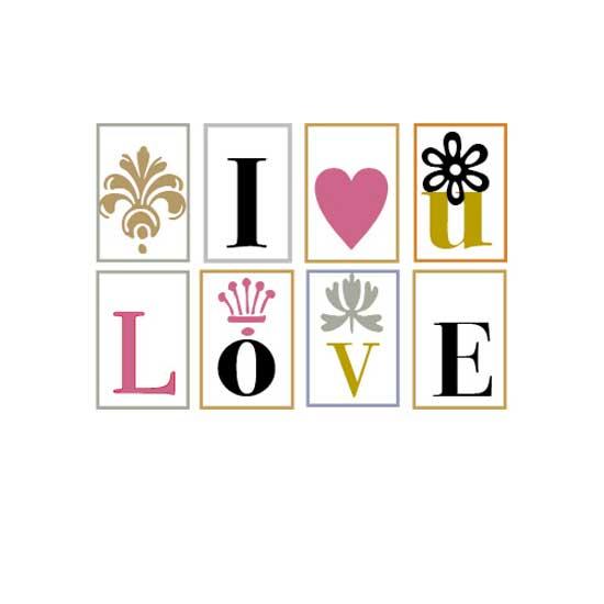 valentine's day - dingbat love by Carole Weitz
