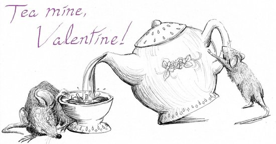 valentine's day - Tea poured for two is best with you! by Crystal Jones