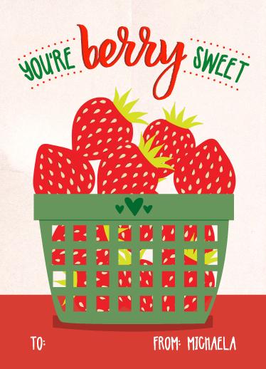 valentine's day - Strawvery sweet by Annie Walker