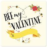 Bee my Valentine heart by Alice Galeotti