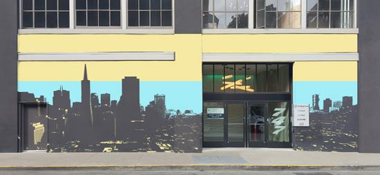 design - San Francisco Cityscape by Rachel Matheney